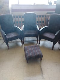 Three office chairs and an ottoman North Chesterfield, 23234