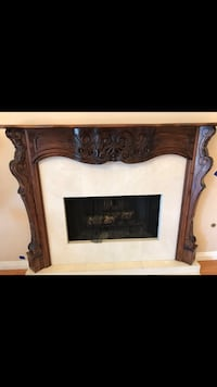 High quality wood frame for fireplace, hand made, mint condition Los Angeles, 91405