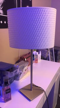 white and purple table lamp London, N5V 4Y9
