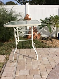 High outdoor metal and glass table  Largo, 33773