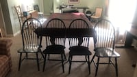 4 Black Table Chairs Sterling, 20165