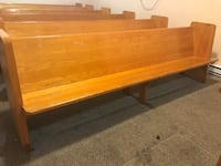 Church wooden benches Reading