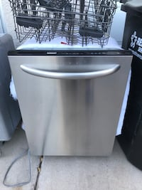 Stainless Steel Kenmore Dishwasher stainless inside