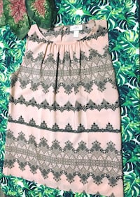 brown and green floral sleeveless dress Shawnee, 66203