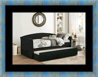 Daybed black with mattress