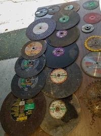 18 Assorted Saw blades and Chop Saw Wheel