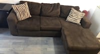 Dark brown suede material L-shape couch - 10/10 condition - Brand new moving countries and we can't take it with us - For more information message me at ( [TL_HIDDEN]   Richmond Hill, L4C 1H9