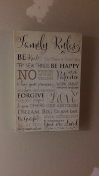 Family rules quote wall decor