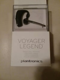 black Plantronics voyager legend Bluetooth mono headset box Ocala, 34479