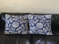 Blue and white pillows Columbia, 21044
