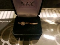 10k rose gold Kay Jewelers engagement ring & band Albuquerque, 87114