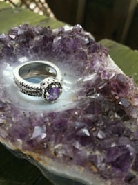925 Silver Ring with Violet Crystal Fairfax, 22032