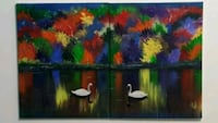 (set of 2) 32x20 inches  acrylic painting  Vaughan, L4L 3L9