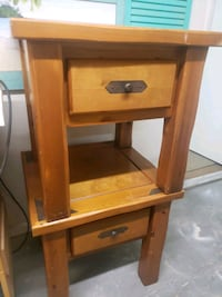 Pair of large/ wood side tables