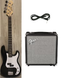 Bass Guitar with Amp Fender rumble 15 black 4 string brand new Richmond Hill