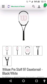 Tennis racket 97 Countervail Wilson Vancouver, V5N 5Y3