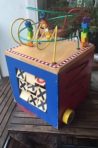Wooden play cube toddler baby