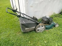 black and gray Craftsman push mower Inwood, 25428