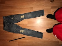 two black and gray denim jeans Anchorage, 99501
