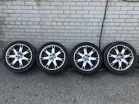 Four chrome performance wheels and tires Mississauga, L4W 2M9