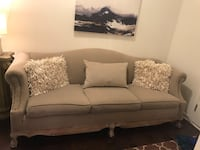 Vintage Tan Sofa/ Couch Lithonia, 30038