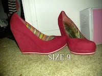 Pair of red wedges Orlando, 32824