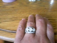 Diamond ring 1 carat total wt. Worn once. Concord, 03301