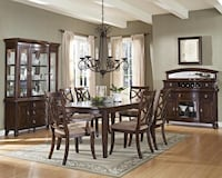 Carly Brown Dining Set Houston, 77036