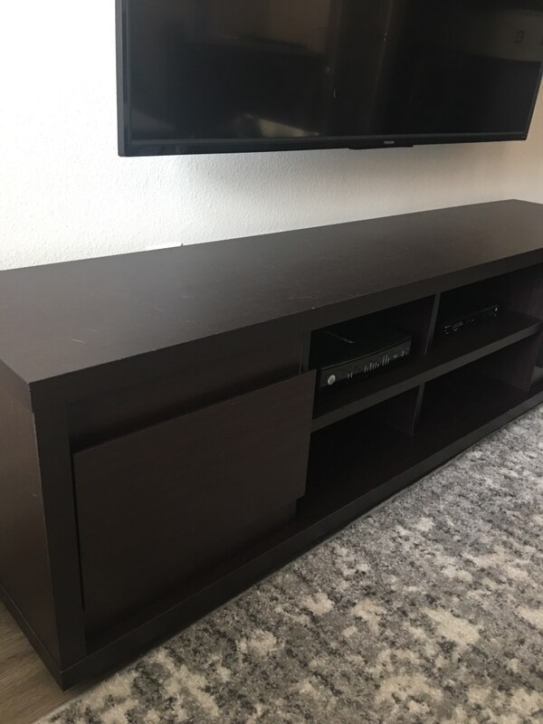 Sensational Black Wooden Tv Stand With Cabinet Download Free Architecture Designs Grimeyleaguecom