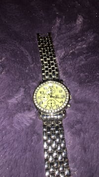 round silver chronograph watch with link bracelet Altamonte Springs, 32701