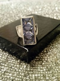 silver and purple gemstone ring Ontario, M8V