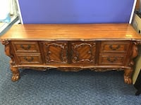 brown wooden 6-drawer lowboy dresser Virginia Beach, 23462