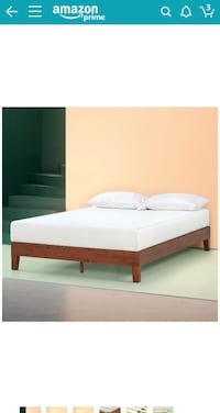Full platform bed frame - beautiful wood color Jersey City, 07302
