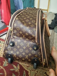 brown and black leather Louis Vuitton handbag Lincolnia, 22312