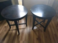 two black wooden bar stools Gaithersburg, 20879