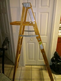 6ft tall 225 weight capacity wood step ladder ???? Tampa, 33647