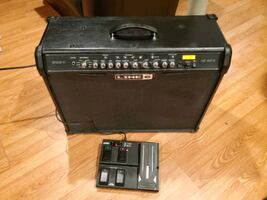 Line 6 Spider IV 150 Watt amp with volume/wah/channel pedal
