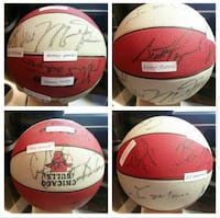 Autographed Chicago Bulls Ball  Burbank, 60459