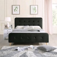 Double size Black Fabric Bed Frame