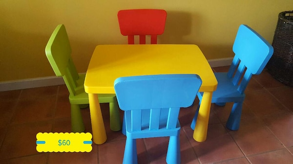 Used Ikea Mammut Table And Chairs For