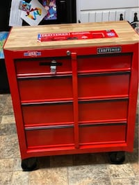 Brand New 4 Drawer Steel Rolling Tool Chest Cabinet Storage Mechanics Workbench For Garage Shop