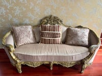 Extravagant French wood frame sofa couch lounge chair