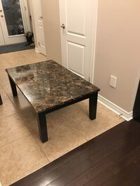Solid Wood coffee table with faux marble top Vaughan, L6A 4P6