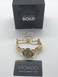 MOVADO WOMENS BOLD 36 MM ION GOLD PLATED Windsor Locks