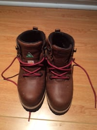 pair of brown leather work boots TORONTO