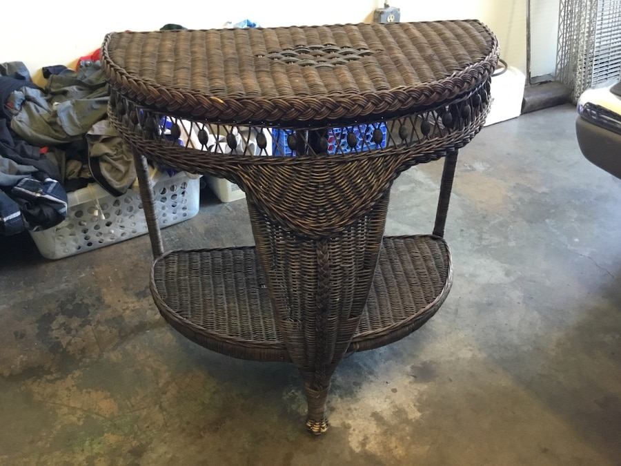 Brown wicker table - United States