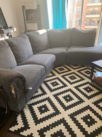 Free grey sectional couch Skokie, 60077