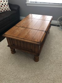 Antique Coffee table, solid wood London, N6B