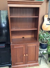 brown wooden cabinet with shelf Leesburg, 20175