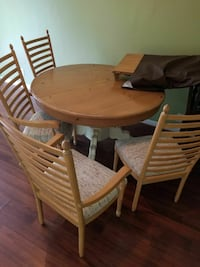 brown wooden dining set